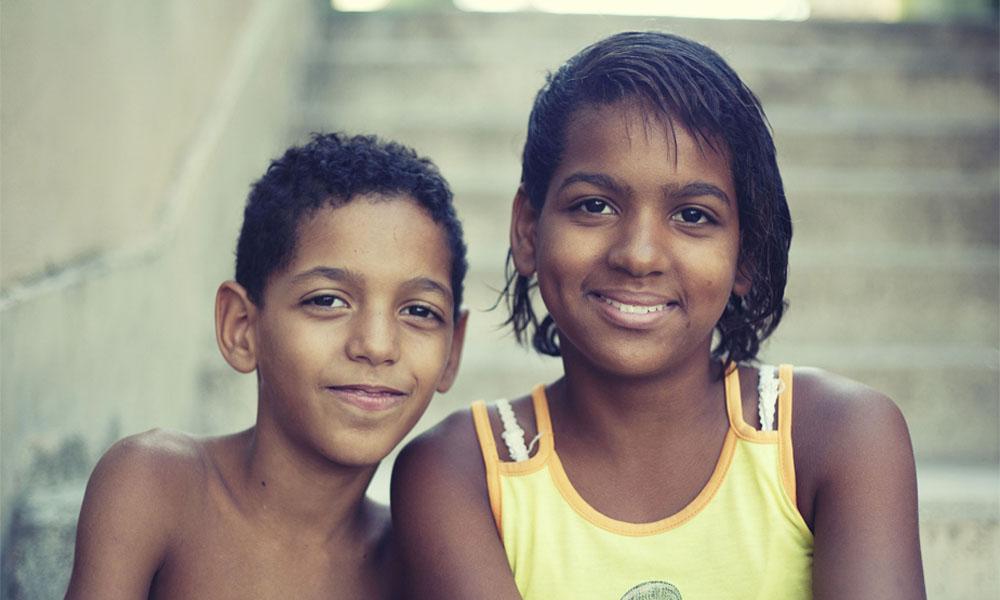 Brother and sister, Douglas and Thanya