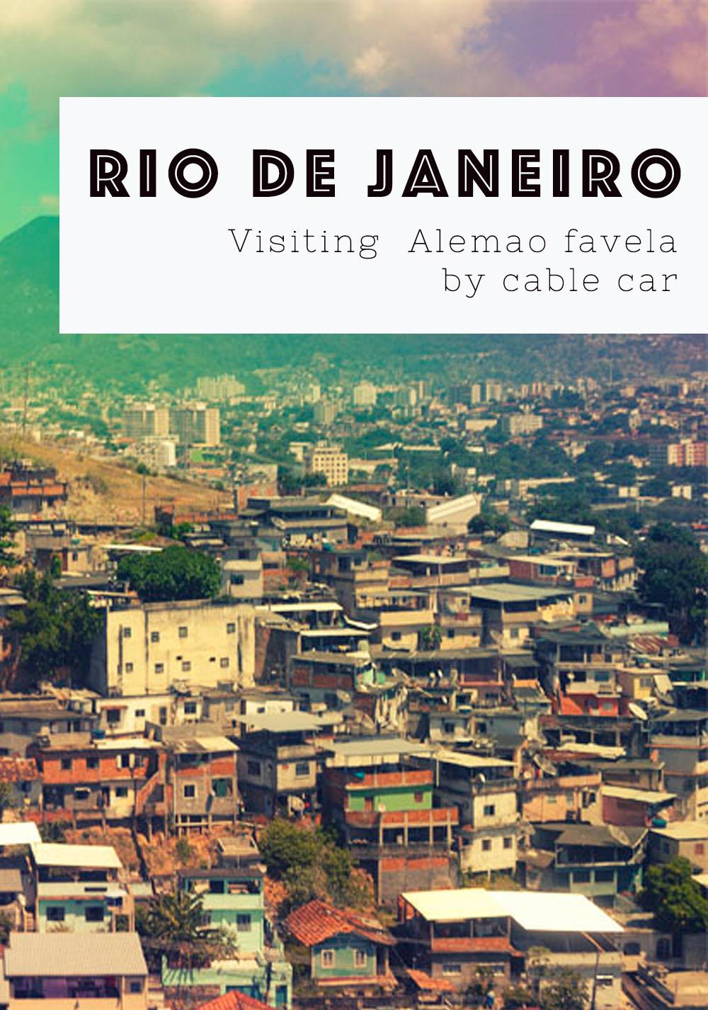 Visiting rio favela by cable car
