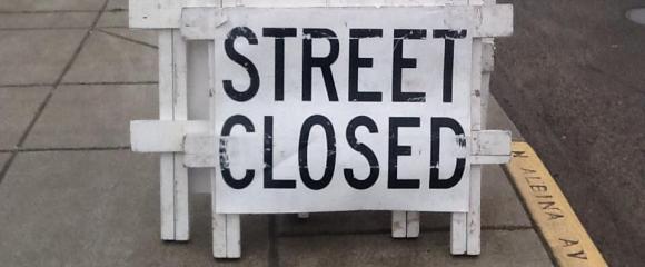 Bridge to Brews Street Closed