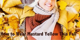 How to wear mustard yellow