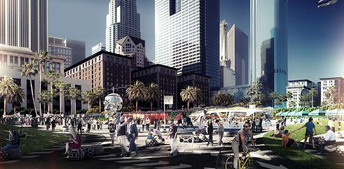A rendering of Pershing Square reimagined (Photo: Gensler / Nephew)
