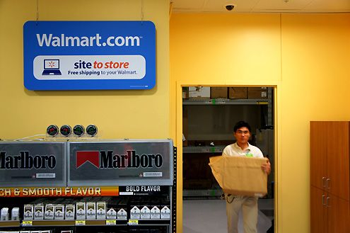SITE TO STORE SERVICE Wal-Mart Site to Store Benefits: • With million weekly in-store customers, the new Site to Store service was designed to fit the way Wal-Mart customers shop. Other services in the industry right now only allow customers to purchase products online that are already carried in stores.