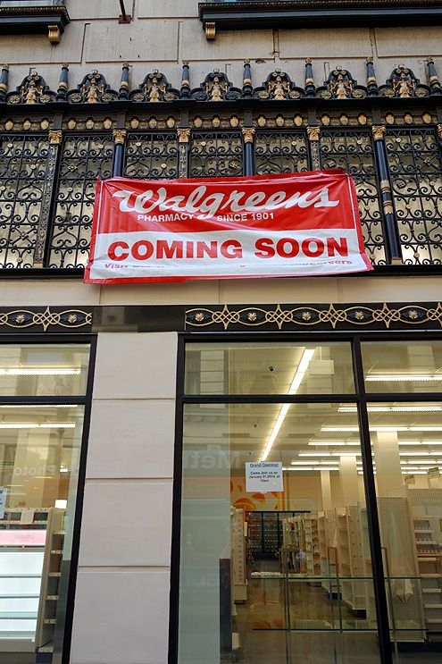 A new Walgreens will be opening next week at 5th/Broadway with a grand opening on Jan 31, 2014 at 10 am