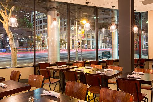 A view of the city while you dine (Photo: Hunter Kerhart)