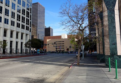As more large-scale developments are added to these desolate blocks west of Figueroa, this very quiet stretch of 8th Street will eventually become much more vibrant with pedestrian activity, and as a result, will finally feel connected to the rest of Downtown LA