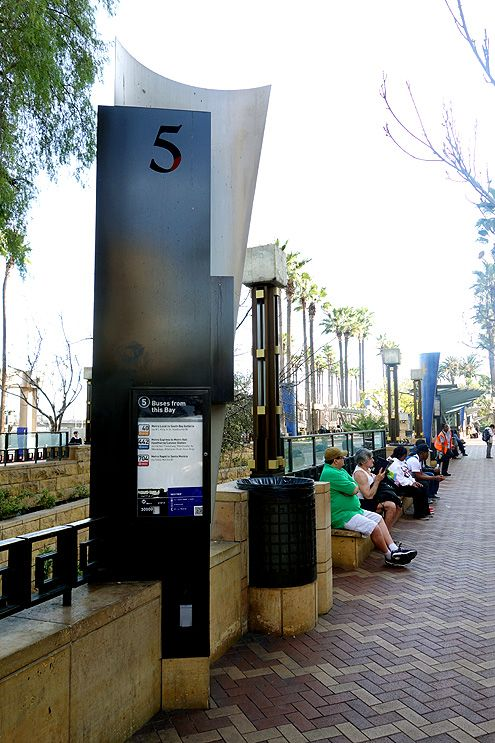 New flat panels will be installed in Patsaouras Transit Plaza that display real-time bus schedules