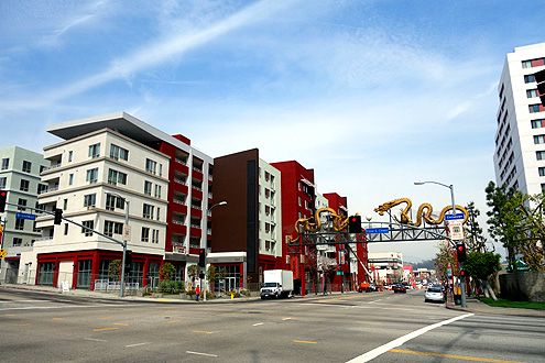 Chinatown's first market rate housing development, Jia Apartments, is now open adjacent to the Chinatown gateway at Broadway and Cesar Chavez