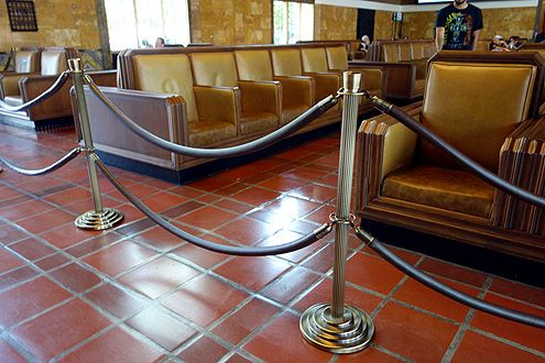 New art deco style post railings that match the theme of Union Station have replaced generic ones from before