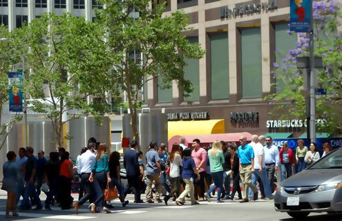 As Downtown LA continues to revitalize, the urban center of LA is becoming more vibrant with pedestrian activity, a phenomenon many still are unaware of happening to Los Angeles