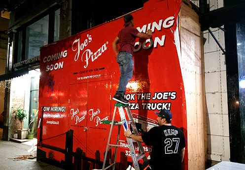 Joe's Pizza known for their thin crust New York-style pizza is opening near 6th/Spring in Downtown LA