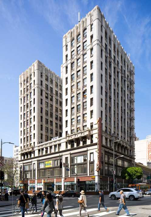 The historic Foreman & Clark building at 7th/Hill, currently a jewelry mart, is slated to become a new boutique hotel (Photo: Hunter Kerhart Photography)
