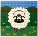 LEGO Sheep Mosaic picture