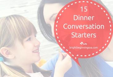 15 Dinner Conversation Starters