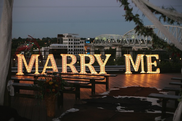 Creative marquee letter signs by bright event productions for Marry me light up letters
