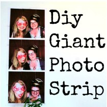Giant photobooth wall art
