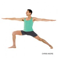 Warrior II or Virabhadrasana II in yoga asana