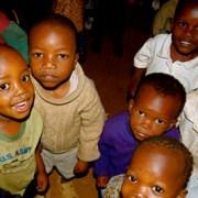 Hungry children in Kibera.