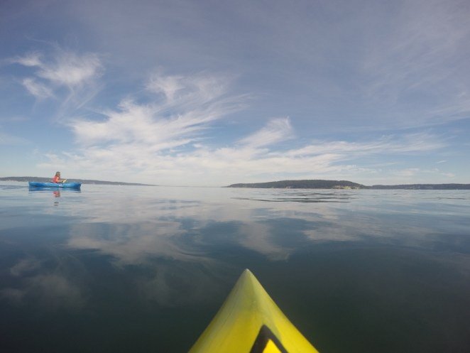 It's amazing when any part of Puget Sound is this flat that you can see a near perfect reflection.