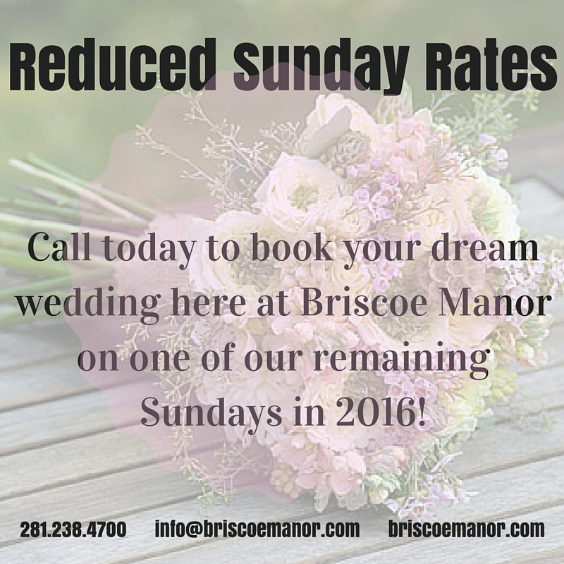 Reduced Sunday Rates