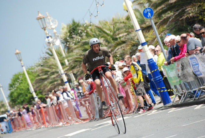 The Penny Farthing Championships will feature again and will make you realise how normal you are!
