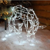 Noma LED 70cm Outdoor Mother and Baby Reindeer