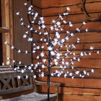 1.2m Cherry Blossom White LED Tree