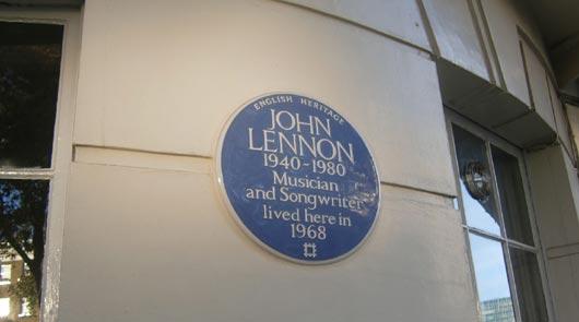 John Lennon sign