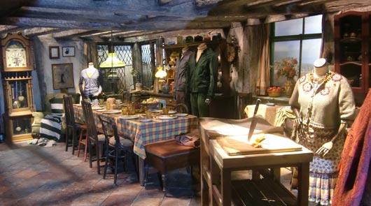 filming set on harry potter studio tour london
