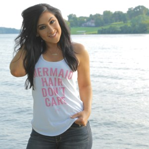 mermaid hair don't care racerback tank