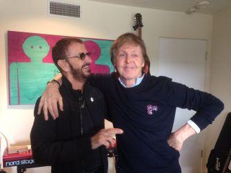 Ringo Starr y Paul McCartney reunidos tras 7 años