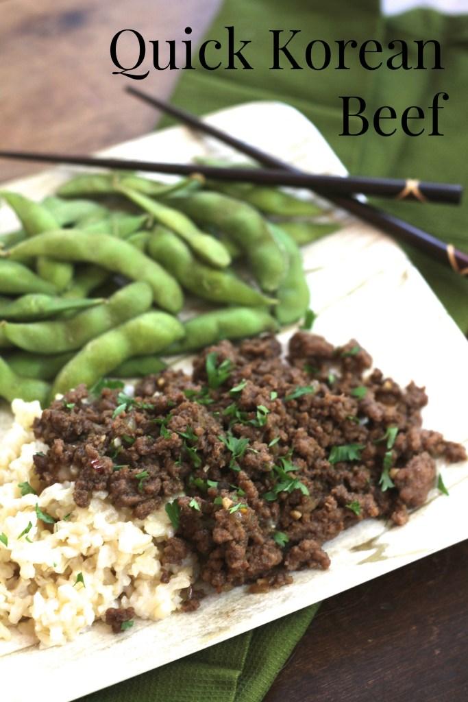 Quick Korean Beef via Brittany's Pantry