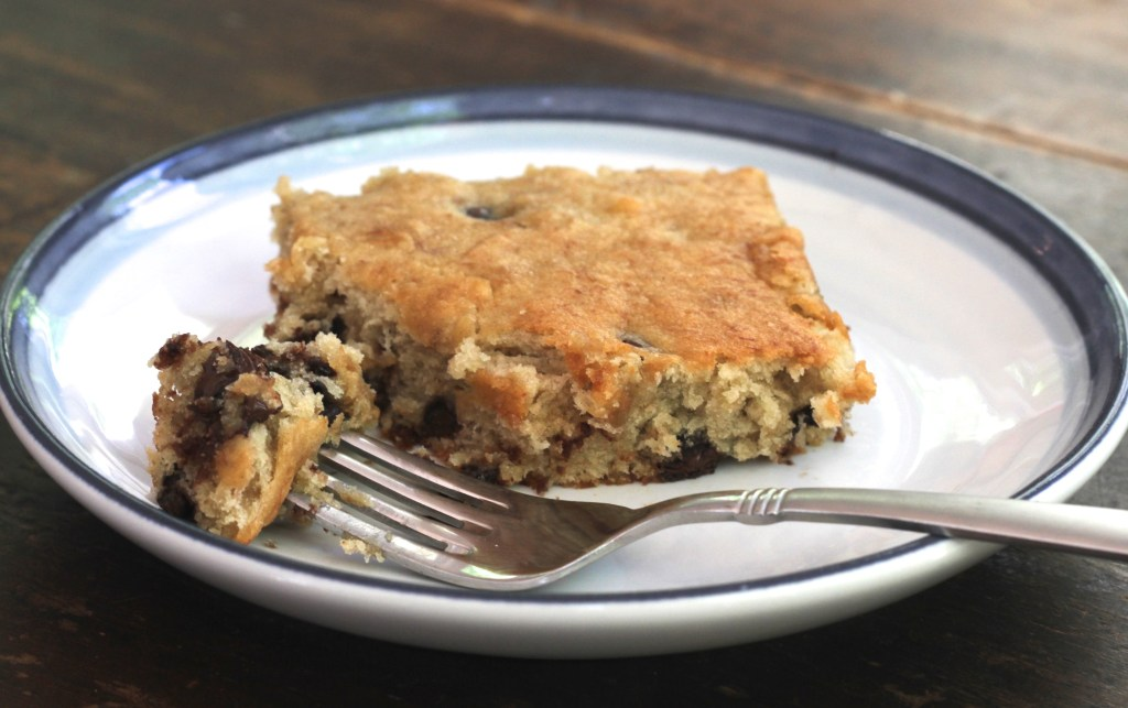 These Chocolate Chip Banana Bars are moist and delightfully sweet! {Brittany's Pantry}