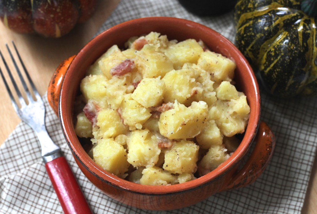 Easy Hot German Potato Salad via Brittany's Pantry makes Oktoberfest especially delicious!