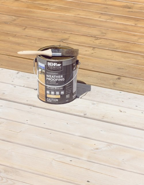 Medium Of Behr Deck Stain