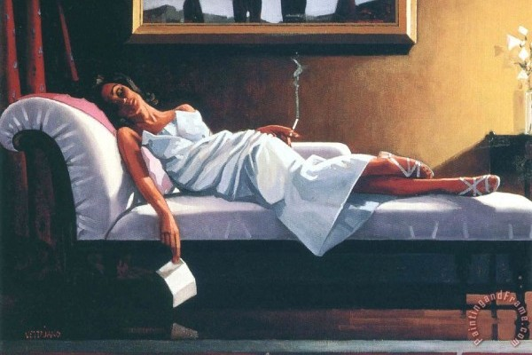 The Letter Painting by Jack Vettriano; The Letter Art Print for sale