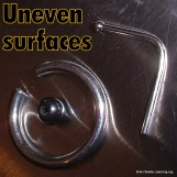 Uneven steel surface finish