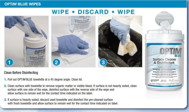 Optim Blue wipes qrg
