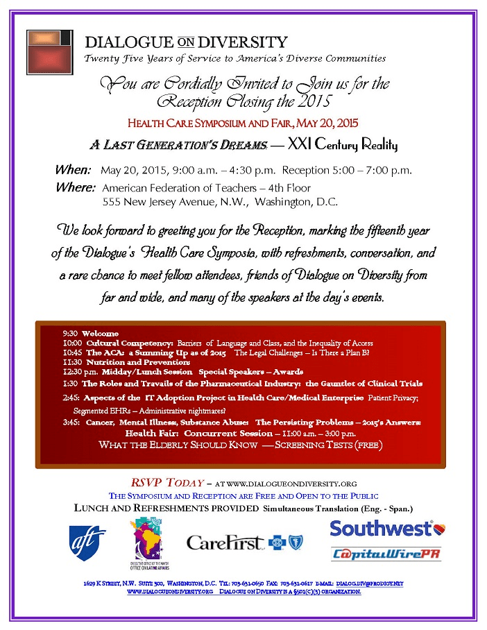 Dialogue on Diversity Health Care Symposium and Fair