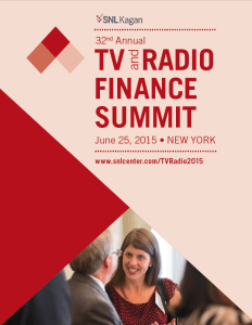 SNL Kagan TV and Radio Finance Summit 2015