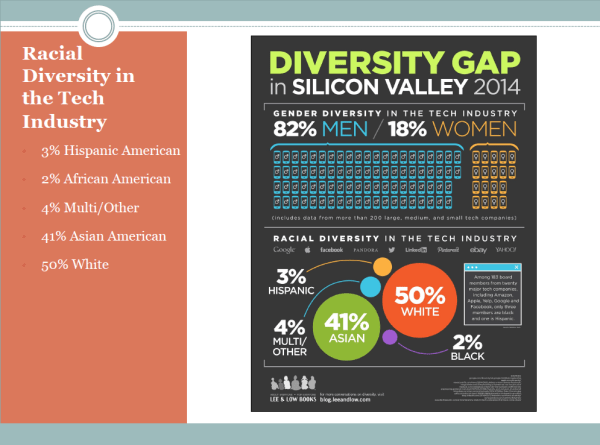 Slide 9 - Racial Diversity in the Tech Industry