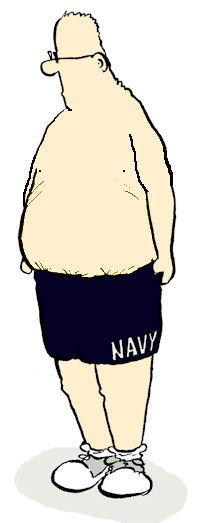 fat guy no shirt