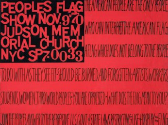 Faith Ringgold, The People's Flag Show, 1970; (c) Faith Ringgold, courtesy the artist and ACA Galleries, photo Jim Frank
