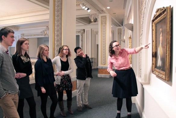 Spring 2015 interns in NMWA's galleries; Photo credit: Laura Hoffman