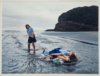 Justine Kurland, Raft Expedition, 2001; NMWA, Gift of Heather and Tony Podesta Collection, Washington, D.C.; © Justine Kurland, courtesy Mitchell-Innes + Nash