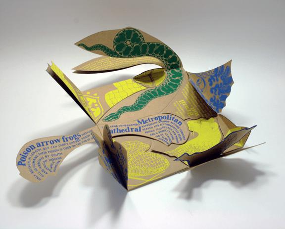 Priya Pereira, Puzzle de Brazil, interior, 2001; Artist's book published by Pixie Bks