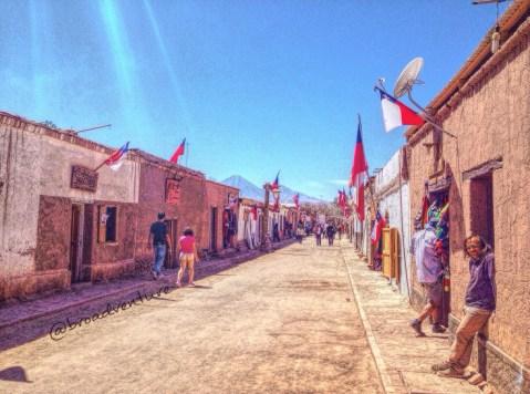 Uma tarde pacata no inóspito Deserto do Atacama.