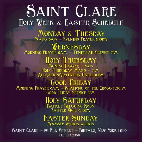 Saint Clare Buffalo