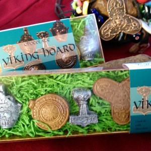 """Ingibjorg the fair widow"" 2 boxes of Viking Hoard chocolates based on Scandinavian Viking jewellery."