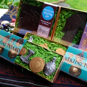 Raven Banner: Viking chocolate archaeology in dark chocolate