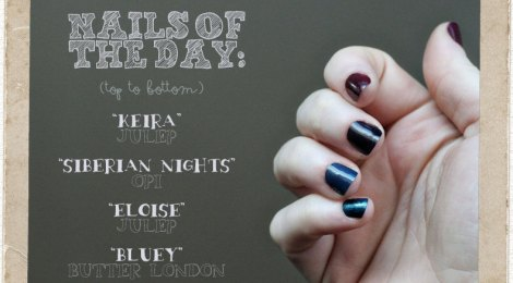Daily Nail: Jewel Tone Gradient